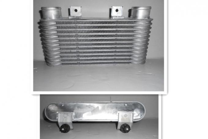 Charge Air Cooler Plate Type Car Intercooler Sliver Color 142*325*65mm