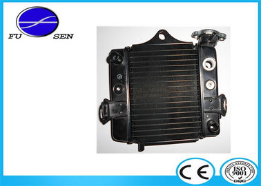 China Aftermarket Aluminum Motorcycle Radiator , Custom Aluminum Radiator Black Core Color factory